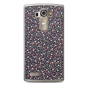 Floral LG G4 Transparent Edge Case - Dark a