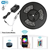 Nexlux Led light strip,Wifi Wireless Smart Phone Controlled Strip Light Kit 32.8ft 300leds 5050 Waterproof IP65 LED Lights,Working with Android and IOS System,IFTTT,Google Assistant