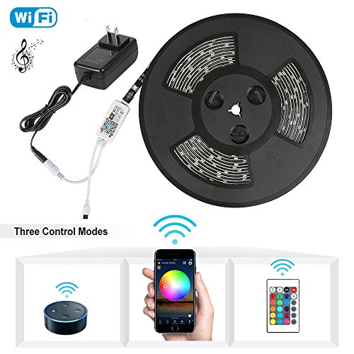 Nexlux LED Strip Lights, WiFi Wireless Smart Phone Controlled Light Strip Kit 5050 LED Lights,Working with Android and iOS System,Alexa, Google Assistant