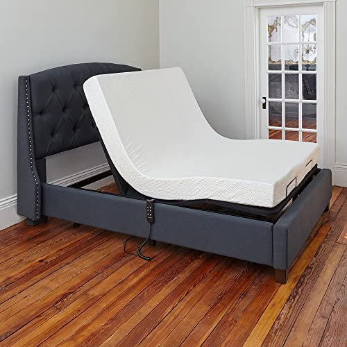 Classic Brands Adjustable Comfort Affordamatic Upholstered Adjustable Bed Base Foundation, Twin XL