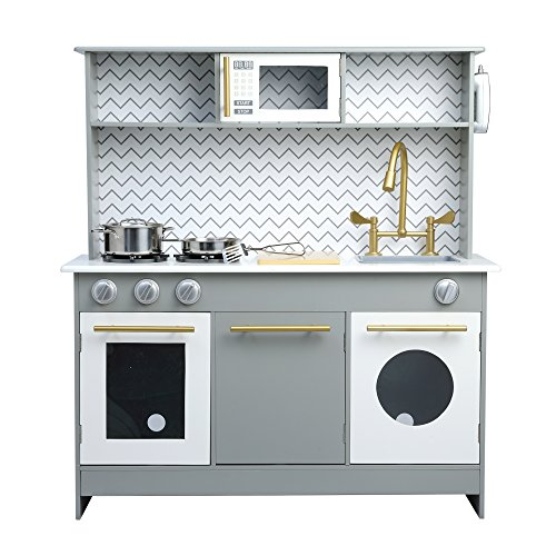 Teamson Kids Little Chef Birmingham Modern Play Kitchen, Grey/ White by Teamson Kids