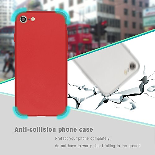 Qissy® Mode-Design sehr dünn anti-dropping PC Handy Hülle für iPhone 6S Plus / iPhone 6 plus Hülle (iPhone 6 6s, Silber) Rot