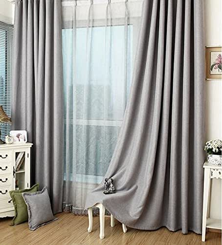 "Amazon Curtains Blackout: Amazon.com: Lined Ash Grey Blackout Curtain Handmade Drapery, 50""W X 76"" L, One Panel ( Pinch"