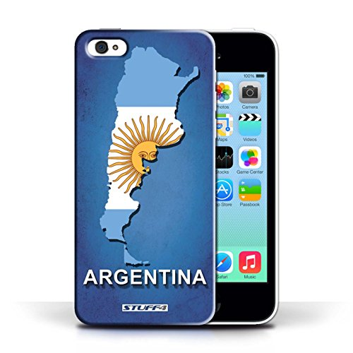 KOBALT® Hülle Case für Apple iPhone 5C | Argentinien Entwurf | Flagge Land Kollektion