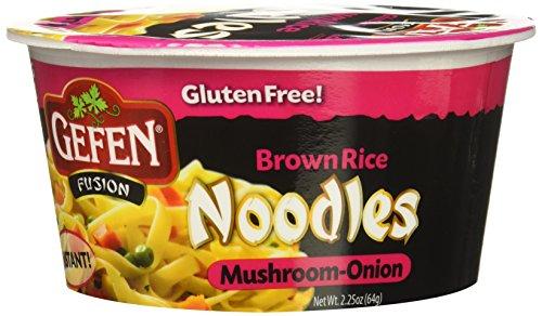 Gefen Brown Rice Noodle Soup, Mushroom, 12 Count