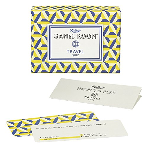 Ridley's Travel Quiz Card Game for Kids and Adults