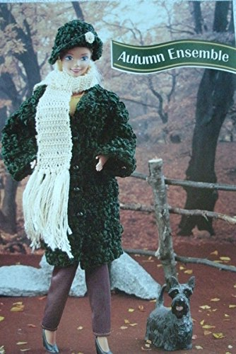 Ensemble Crochet Pattern - Barbie or Fashion Doll Coat, Scarf, Hat