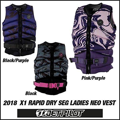 (JETPILOT/ジェットパイロット)2018 X1 RAPID DRY SEG F/E LADIES NEO VEST(レディース)(JA7209) 18JP ブラック/パープル,12   B077XBK8FL