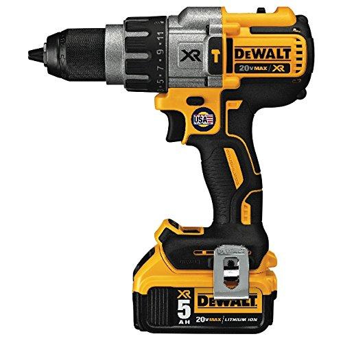 DEWALT 20V MAX XR Hammer Drill Kit, Brushless, 3-Speed DCD996P2