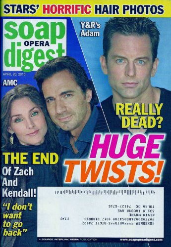 Michael Muhney, Thorsten Kaye, Alicia Minshew, Rick Hearst, Vintage Hairstyles of Soap Divas - April 20, 2010 Soap Opera Digest Magazine