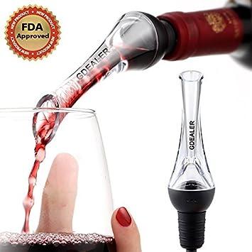 Aireador de vino Pourer, Gdealer decantador de vino tapón para botella de vino para whisky
