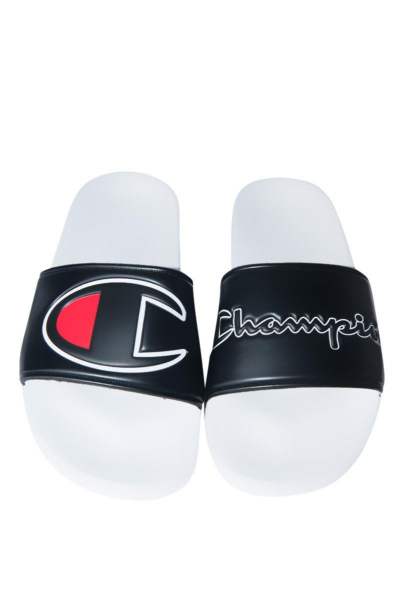 Champion Ipo Sandals, White/Black, 7
