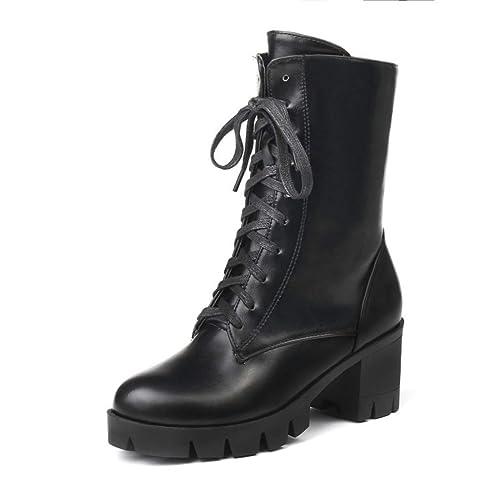 Botas | Botines Gruesos | Botas Martin para Mujer | Botines de tacón Alto de Gran tamaño: Amazon.es: Zapatos y complementos