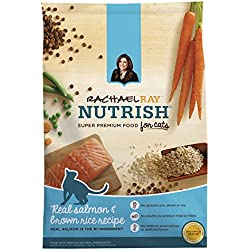Rachael Ray Nutrish Natural Dry Cat Food, Salmon & Brown Rice Recipe, 14 lbs