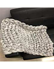 QETUOA Merino Wool Woven Blankets, Handmade Wool Blended Blankets, Suitable for Pet Sofas and Interior Decoration Carpets (Off-white,50 * 50cm)