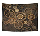 Emvency Tapestry Wall Hanging Steam Punk Gears Polyester Fabric Home Decor For Living Room Bedroom Dorm 60x80 Inches
