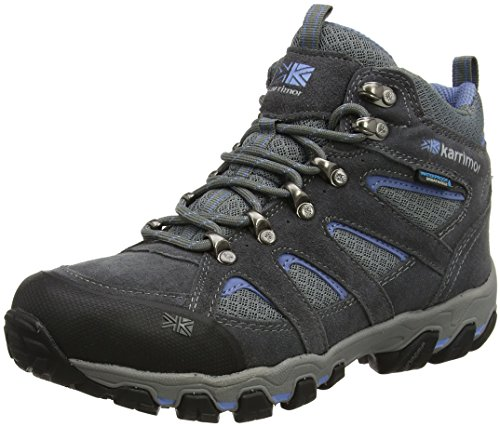 Karrimor Bodmin Mid 5 Ladies Weathertite Uk 3, Zapatos de High Rise Senderismo para Mujer Gris (Grey)