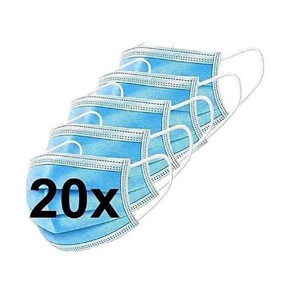 DECADE-123-EGM-20-20x-Medizinische-Einweg-Einwegmaske-Mundschutz-Staubschutz-mit-Ohrschlaufen-EN14683-Atemmaske-mit-BFE-95-Atemschutzmaske-3lagige-OP-Maske