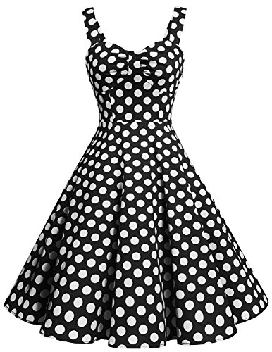 newest collection fashion style fine quality DRESSTELLS 1950s Retro Audrey Swing Pinup Rockabilly Dress Pleated Vintage  Dress