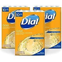 Dial Antibacterial Bar Soap, Gold, 4 Ounce, 30 Bars