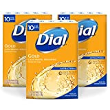 Dial Antibacterial Deodorant Bar Soap, Gold, 4-Ounce Bars, 10 Count (Pack of 3)