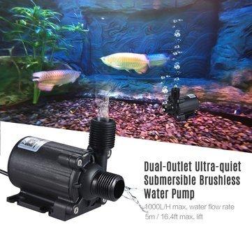 Brushless Water Pump Aquarium Water Pump Fish Tank Aquarium Water Pump Brushless Waterproof Submersible Amphibious Cycle Pump (Fish Tank Water Pump)
