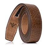 SlideBelts 1.25'' Belt Strap (Hickory, Full Grain Leather, One Size - up to 48'')