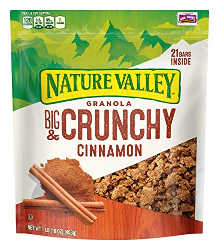 Granola Cinnamon Crunch (Nature Valley Granola, Granola Crunch, Cinnamon, Crunchy Granola Bag, 16 oz)