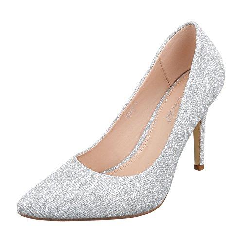 Ital-Design - Zapatillas de casa Mujer Silber 9968-8