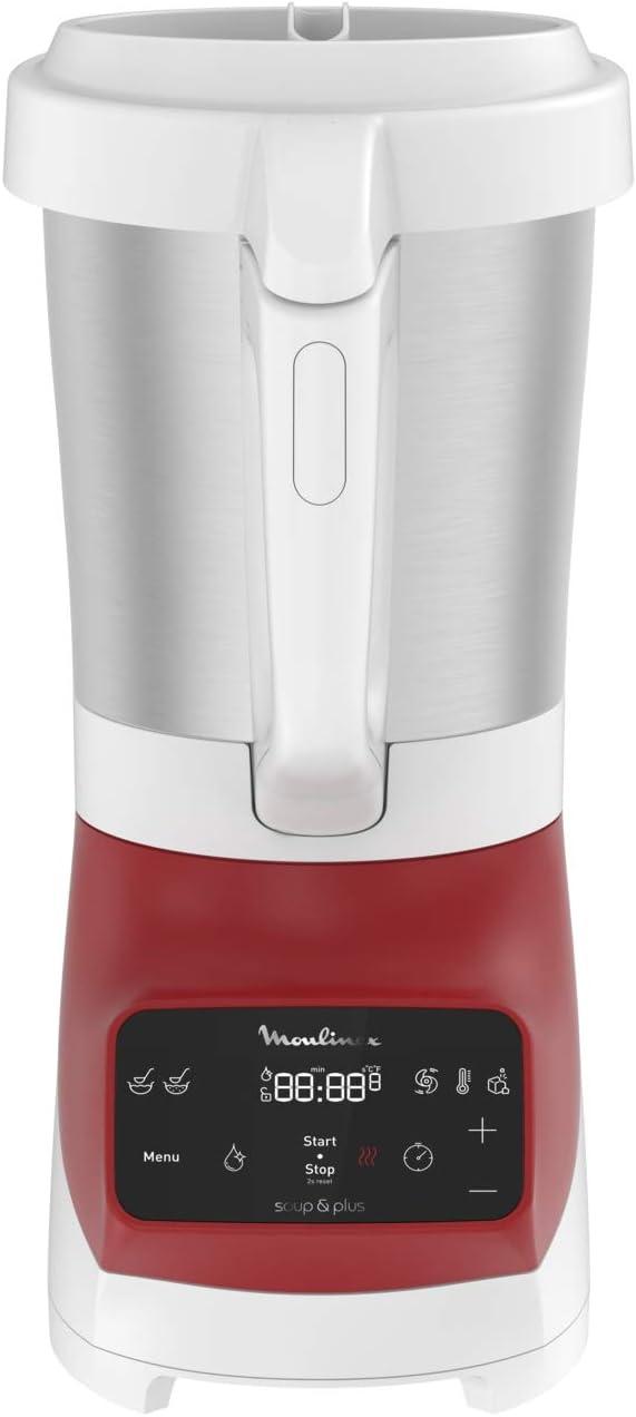 Moulinex - Batidora de vaso con calor (1100 W, 1,8 L) Rouge – 2l ...