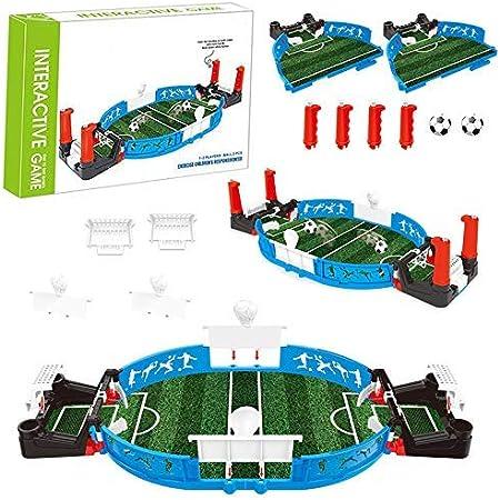 Mini Escritorio de Juego de Fútbol de Mesa, Juegos de Mesa de Futbolín Juguetes de Mesa Interactivos para Niños y Adultos: Amazon.es: Deportes y aire libre