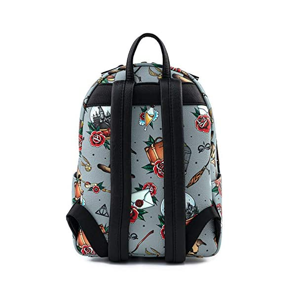 Loungefly Harry Potter Tattoo All Over Print Womens Double Strap Shoulder Bag Purse