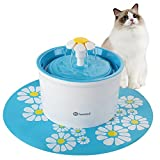 Hommii Pet Drinking Water Fountain with Flower Style Design for Cats and Dogs - Cat Dog Flower Water Dispenser - Automatic Electric 1.6L Super Quiet