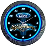 Neonetics Powered by Ford Neon Wall Clock, 15'