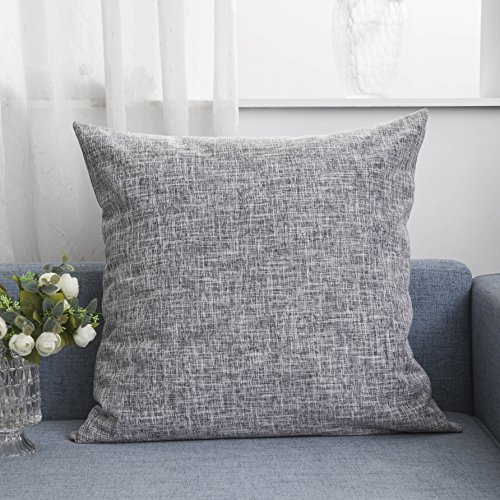 Kevin Textile Europe Decorative Throw Pillow Sham Cushion Cover for Floor/Patio, 26 inches(66cm), Sesame Grey