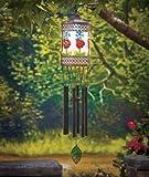 Solar Lighted Ladybug Wind Chime Lanterns