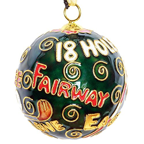 Golf Sayings Cloisonne Christmas Ornament - Kitty Cloisonne