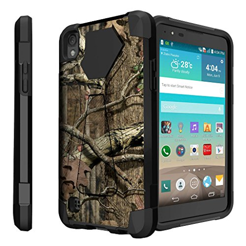 Untouchble Case for LG X Power Hard Case| LG K6P Case [Traveler Series] Shockproof Hybrid 2 Layer Case with Kickstand Case - Real Hunter Camo