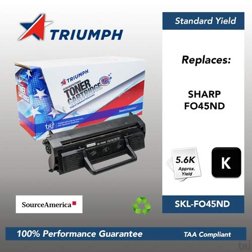(Remanufactured Sharp FO45 Black Toner Cartridge, 5600 Page Yield (FO45ND))