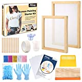 Pllieay 42 Pieces Screen Painting Starer Kit with