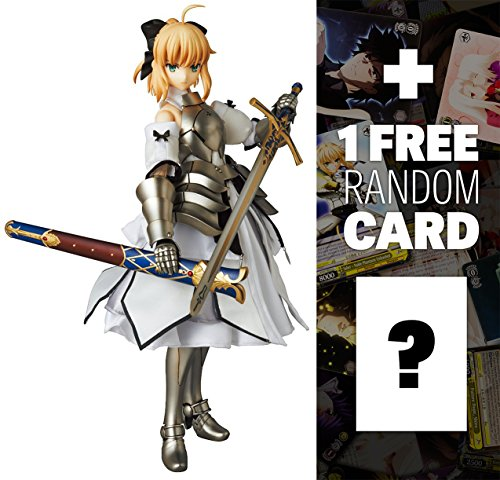 """Saber Lily (First Production Version): ~11.8"""" Fate/stay night x Real Action Heroes Figure Series + 1 FREE Official Japanese Fate Project Related Trading Card Bundle"""