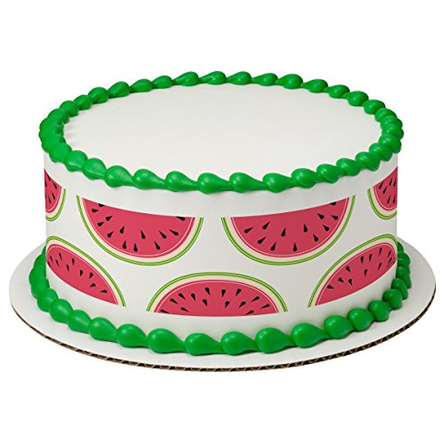 Tropical Watermelon Edible Cake Strips #22874