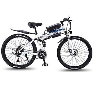 51GcQn0ZGWL. SS300 JXH Folding Mountain Bike per Freni a Disco Doppio per Adulti 36V 8AH Montagna Bicicletta elettrica e, con Display LED…
