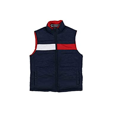 376d0b9a Tommy Hilfiger Mens Reversible Puffer Vest (Small, Red-Blue/Yellow) at  Amazon Men's Clothing store: