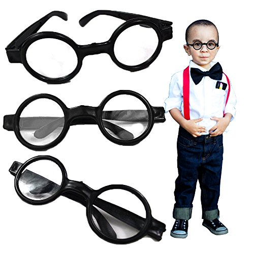 Toy Cubby Nerd Round Wizard Glasses - 8 Piece Party Favor -