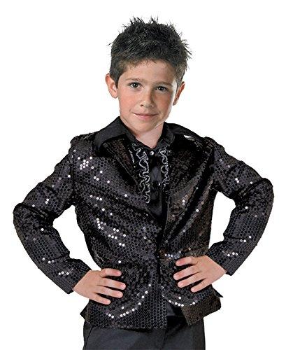 Disco Jacket Child Black - 1980 Fashion Disco