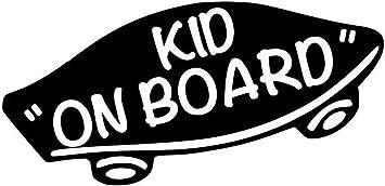 2X White 6 Kids Inside Baby on Board Decal Sticker in Car Vinyl no bkgrd