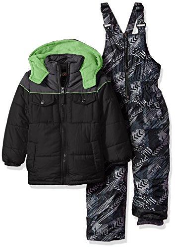 iXtreme Boys' Colorblock Snowsuit with Print Bib