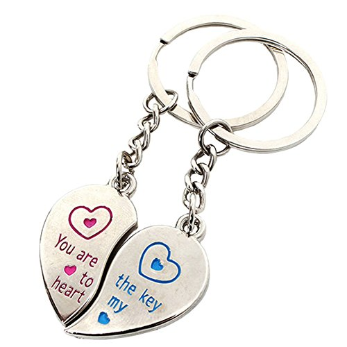 Bling Stars You are The Key to My Heart Keychain Best Friends BFF Lovers Key Ring ()