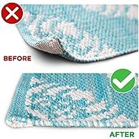 Anti-Curl System - 4 Piece Set Keeps Carpet and Rug Corners or Edges Flat - Safe for Hardwood Floors